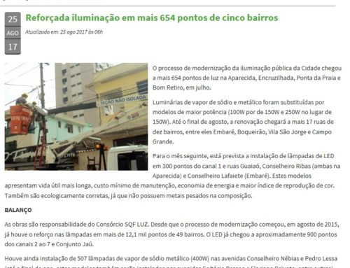 Prefeitura de Santos ressalta obras do Consórcio SQF LUZ no município