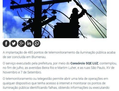 Obras da SQE LUZ em Blumenau ganham destaque no Noticenter
