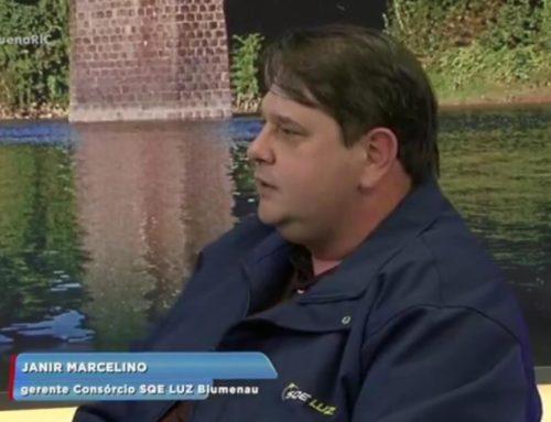 Janir Marcelino, Gerente de Contrato do Consórcio SQE LUZ em Blumenau, participou de entrevista no Balanço Geral da RICTV Record