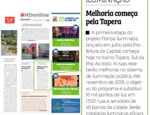 Obras do projeto Floripa Iluminada iniciam na Tapera