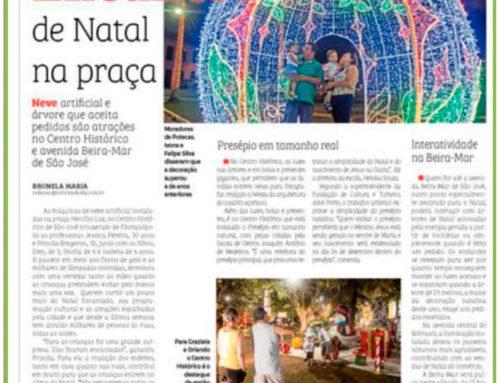 Jornal Notícias do Dia destaca iluminação pública de natal em São José