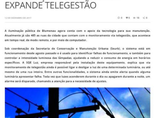 Blog do Prisco ressalta a eficiência do sistema de telegestão da iluminação pública em Blumenau