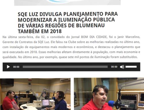 Entrevista na Rádio Clube aborda melhorias na iluminação pública de Blumenau