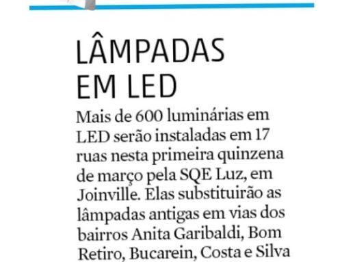 Jornal AN destaca obras realizadas pelo Consórcio SQE Luz em Joinville