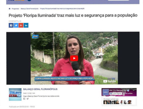 """Floripa Iluminada"" é tema de matéria na RIC Record"