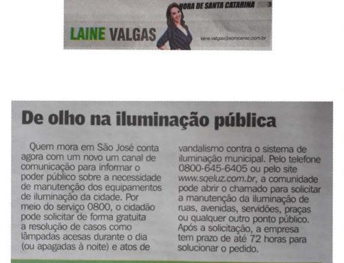 Laine Valgas destaca na coluna do Hora de Santa Catarina serviços oferecidos pelo Consórcio SQE LUZ
