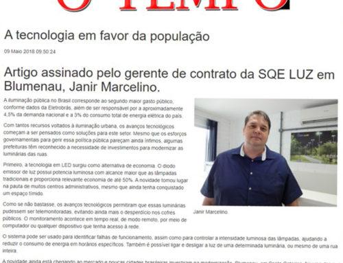 No jornal O Tempo confira artigo de Janir Marcelino sobre a iluminação pública em Blumenau