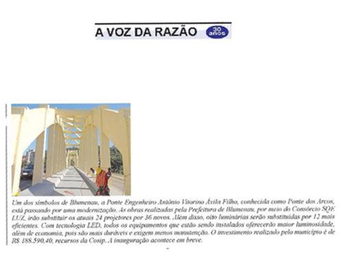 A Voz da Razão traz as melhorias realizadas pelo Consórcio SQE LUZ em Blumenau