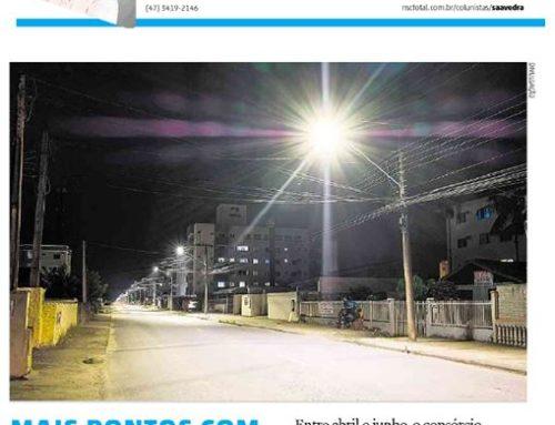 A modernização da iluminação pública em Joinville, executada pelo Consórcio SQE LUZ, é destaque no AN