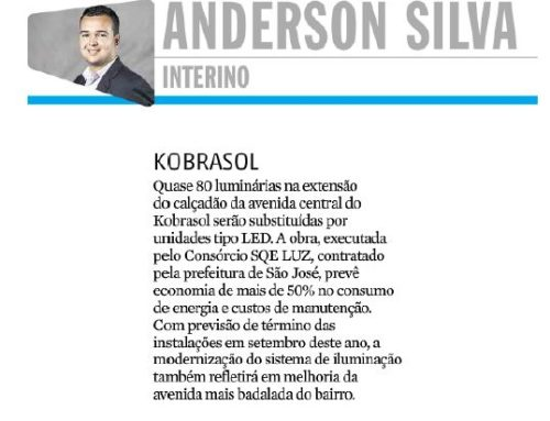 Melhorias na iluminação pública de São José em destaque no Diário Catarinense