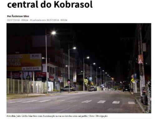 Modernização na iluminação pública do Kobrasol, em São José, são destaque no NSC Total