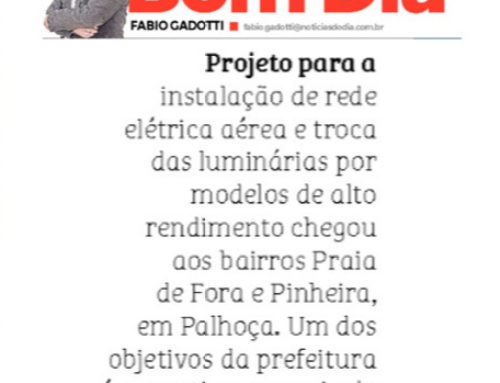Fábio Gadotti destaca a modernização da iluminação pública em São José