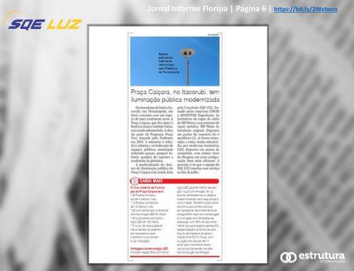 Nova iluminação da Praça Caiçara é destaque no impresso e canais digitais do Informe Floripa.