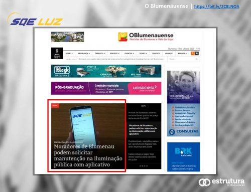 O Blumenauense destaca aplicativo para pedir manutenção na iluminação pública.