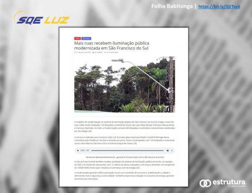 Folha da Babitonga acompanha nova fase da modernização da iluminação pública na cidade.