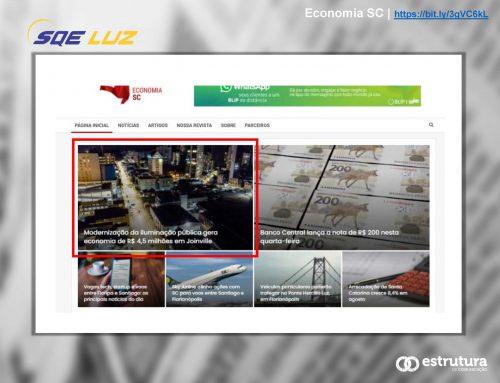 Revista Economia SC divulga o resultado alcançado com a modernização em Joinville.
